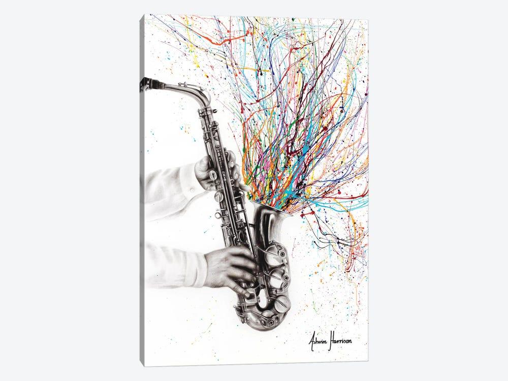 The Jazz Saxophone by Ashvin Harrison 1-piece Canvas Print