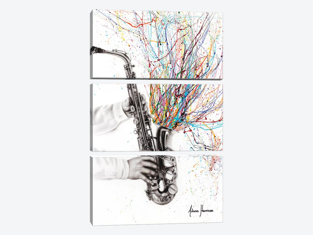 The Jazz Saxophone by Ashvin Harrison 3-piece Canvas Art Print