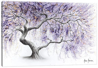 Purple Prosperity Tree Canvas Art Print