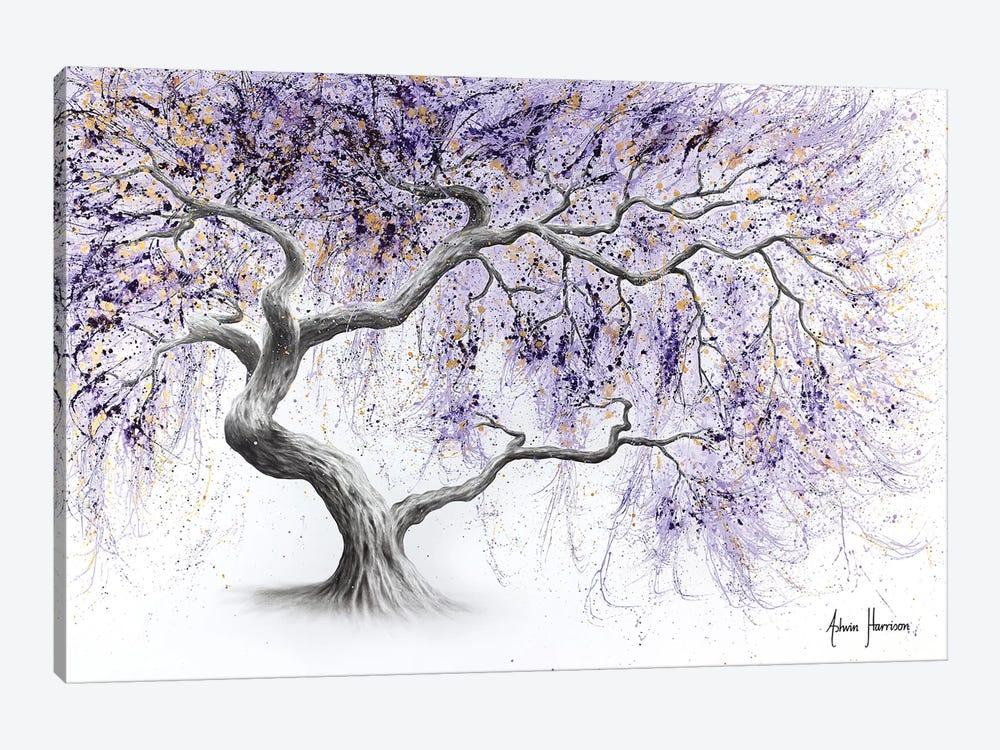 Purple Prosperity Tree by Ashvin Harrison 1-piece Canvas Art