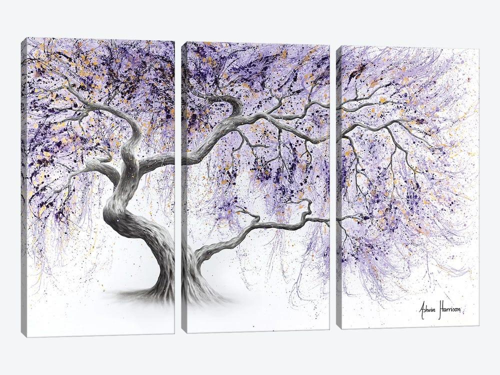 Purple Prosperity Tree by Ashvin Harrison 3-piece Canvas Artwork