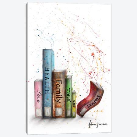 Life Dance Books Canvas Print #VIN477} by Ashvin Harrison Canvas Art Print
