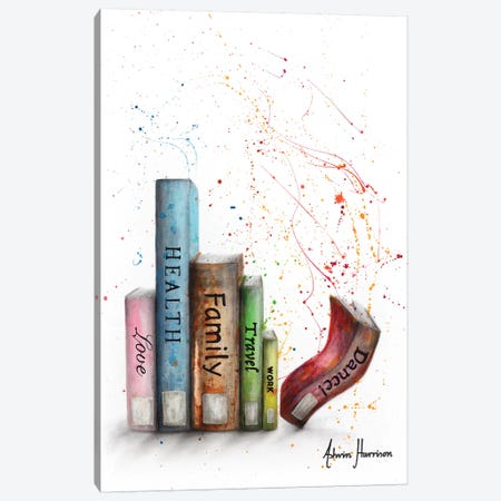 Life Dance Books Canvas Print #VIN477} by Ashvin Harrison Canvas Art Print