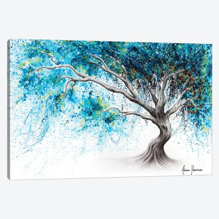 Blue Crystal Dream Tree Canvas Print #VIN479} by Ashvin Harrison Canvas Art