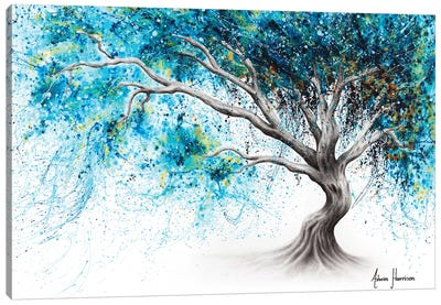 Blue Crystal Dream Tree Canvas Art Print
