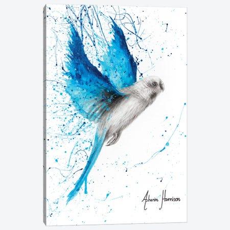 Blue Lake Budgie Canvas Print #VIN483} by Ashvin Harrison Canvas Print