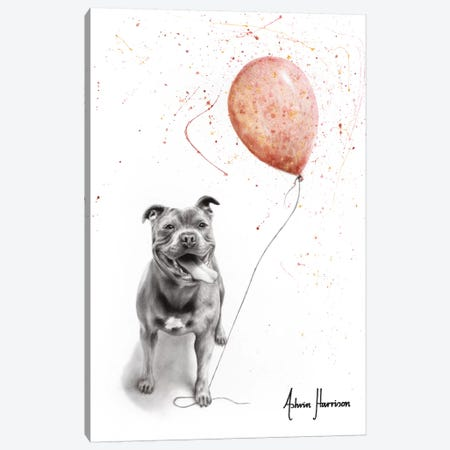 Molly And Her Balloons Canvas Print #VIN486} by Ashvin Harrison Canvas Art