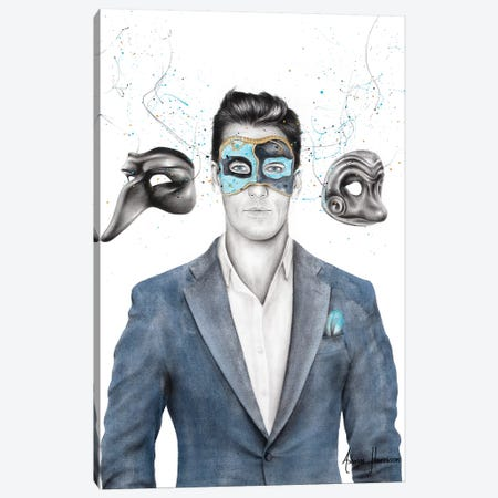 A Man Of Masks Canvas Print #VIN489} by Ashvin Harrison Canvas Art Print