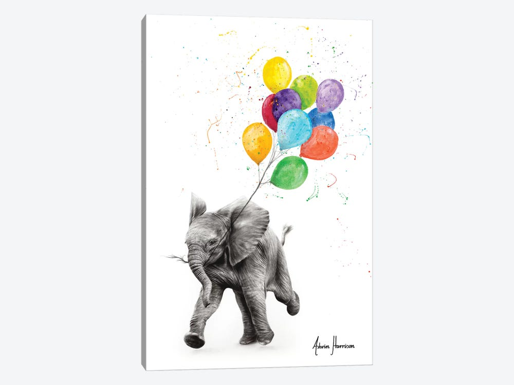 Elephant Freedom by Ashvin Harrison 1-piece Canvas Wall Art
