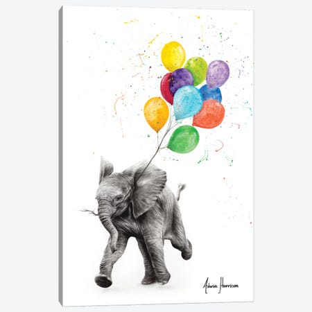 Elephant Freedom Canvas Print #VIN494} by Ashvin Harrison Canvas Print