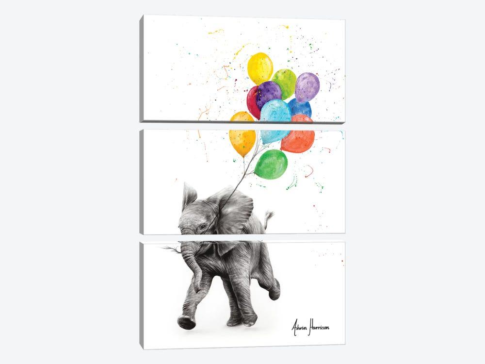 Elephant Freedom by Ashvin Harrison 3-piece Canvas Artwork