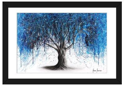 Blue Midnight Tree Framed Art Print