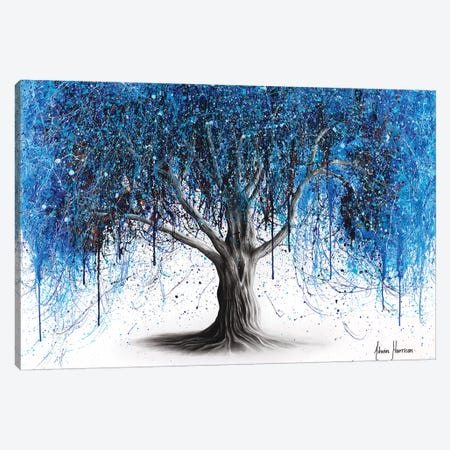 Blue Midnight Tree Canvas Print #VIN497} by Ashvin Harrison Art Print