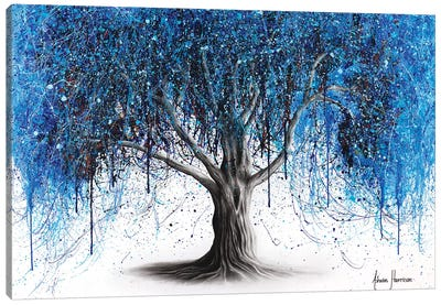 Blue Midnight Tree Canvas Art Print