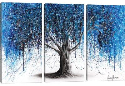 Blue Midnight Tree Canvas Art Print