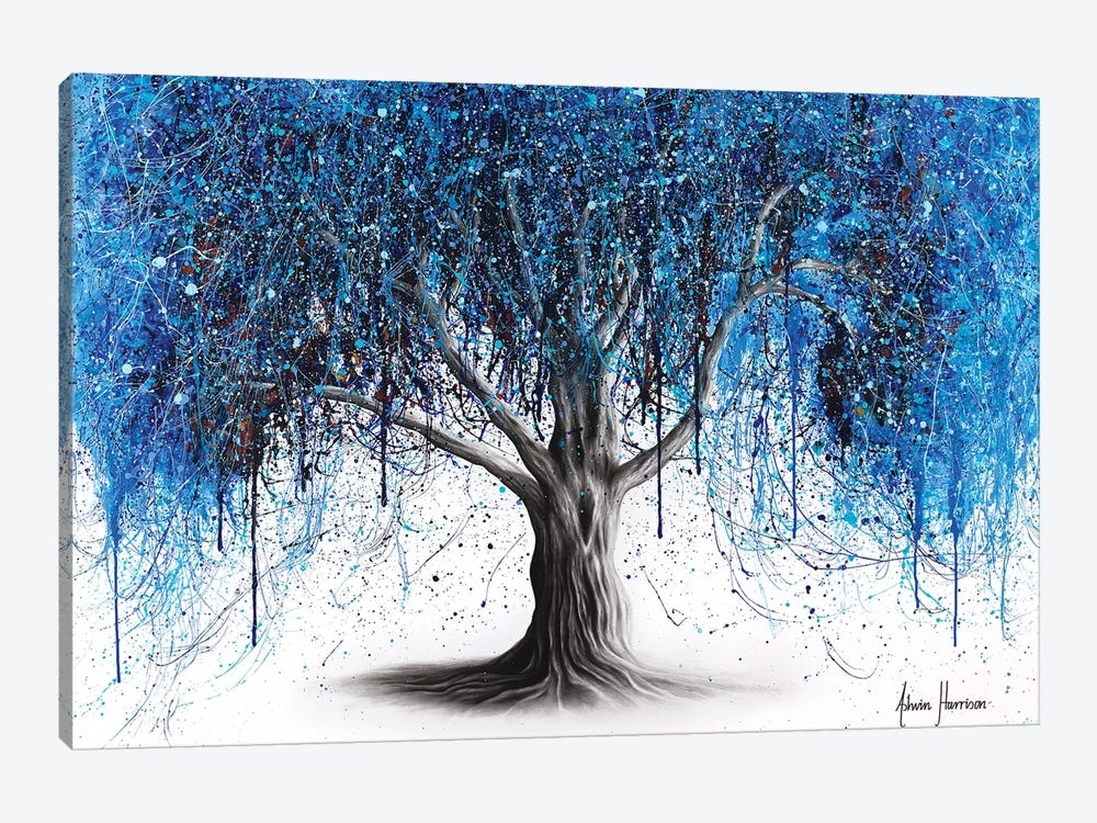 Blue Midnight Tree by Ashvin Harrison 1-piece Canvas Art Print