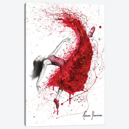 Contemporary Passion Ballerina Canvas Print #VIN498} by Ashvin Harrison Canvas Artwork