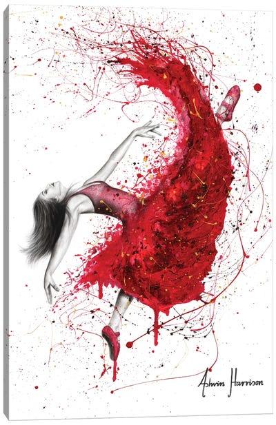Contemporary Passion Ballerina Canvas Art Print