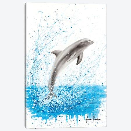 Dancing Dolphin Canvas Print #VIN499} by Ashvin Harrison Canvas Wall Art