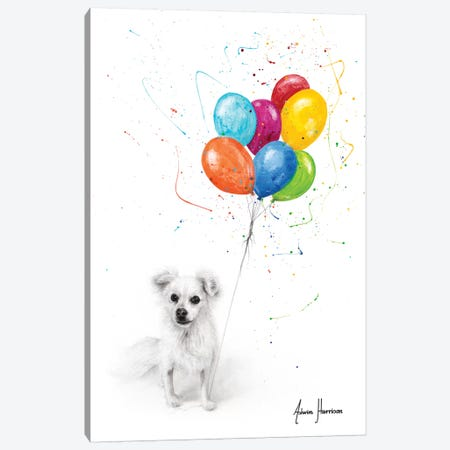 A Puppy Birthday Canvas Print #VIN506} by Ashvin Harrison Canvas Art Print