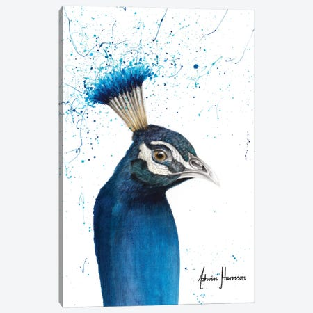 Peacock Portrait 3-Piece Canvas #VIN509} by Ashvin Harrison Canvas Wall Art