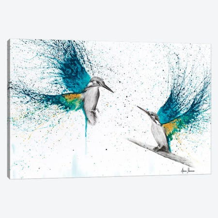 Kingfisher Memories Canvas Print #VIN50} by Ashvin Harrison Canvas Wall Art
