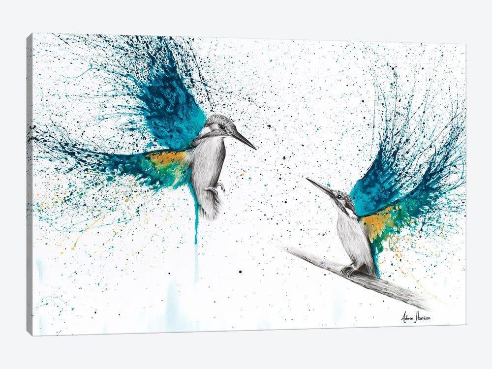 Kingfisher Memories by Ashvin Harrison 1-piece Canvas Art