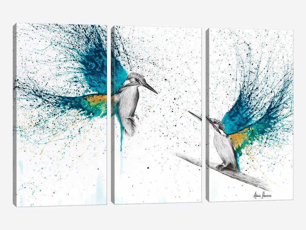 Kingfisher Memories by Ashvin Harrison 3-piece Canvas Art