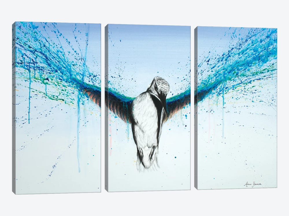 Kingfisher Rise by Ashvin Harrison 3-piece Canvas Art Print