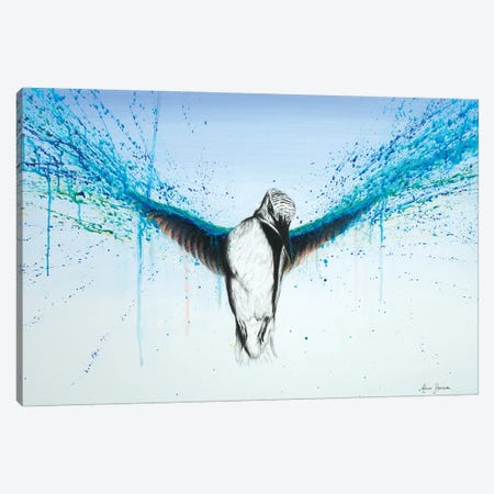 Kingfisher Rise Canvas Print #VIN51} by Ashvin Harrison Canvas Wall Art