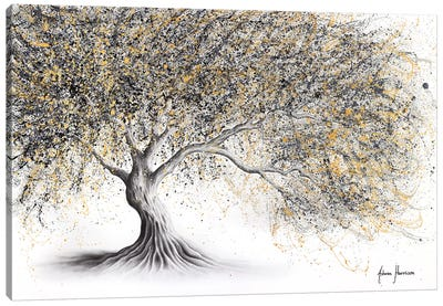 Golden Onyx Tree Canvas Art Print