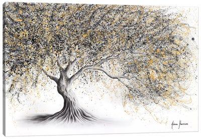 Golden Onyx Tree Canvas Art Print