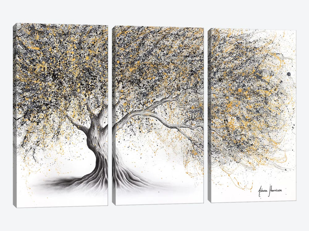 Golden Onyx Tree by Ashvin Harrison 3-piece Canvas Print