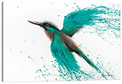 Kingfisher Tropics Canvas Art Print