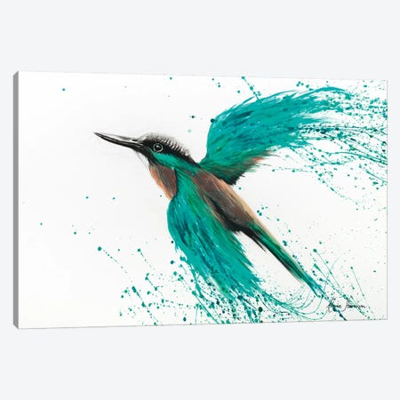 Kingfisher Tropics Canvas Print #VIN52} by Ashvin Harrison Canvas Art