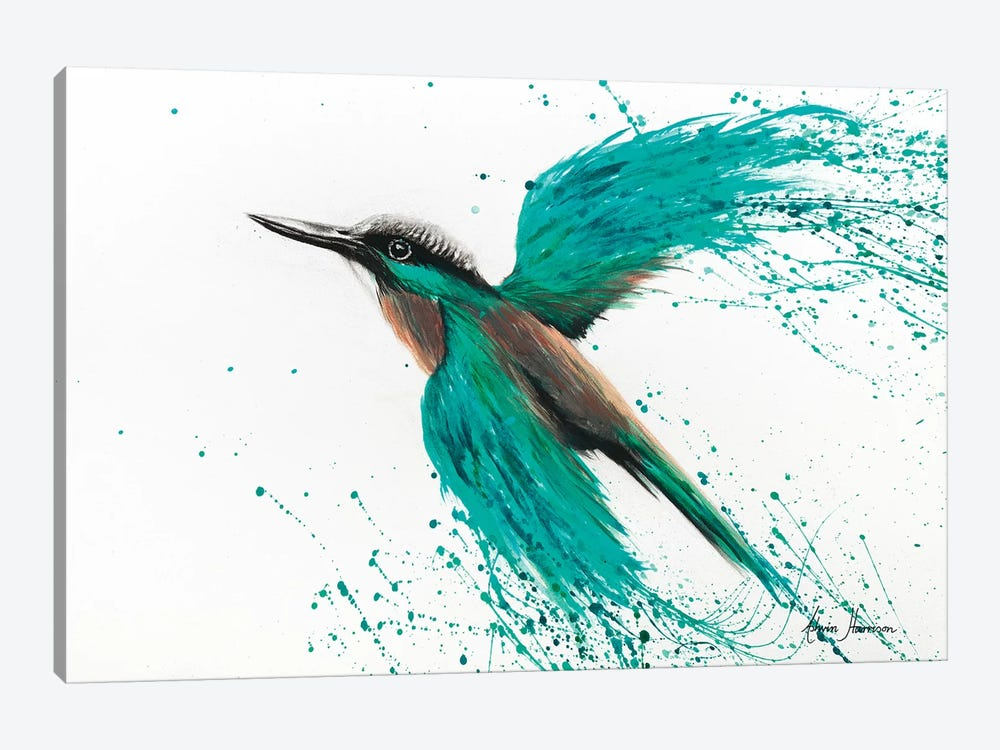Kingfisher Tropics by Ashvin Harrison 1-piece Canvas Wall Art