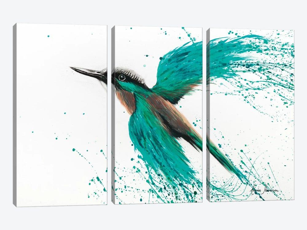 Kingfisher Tropics by Ashvin Harrison 3-piece Canvas Art