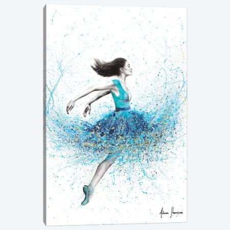 Aqua Sound Dance Canvas Print #VIN533} by Ashvin Harrison Canvas Print