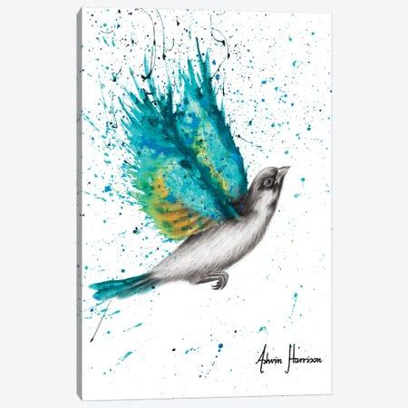 Turquoise Happiness Canvas Print #VIN535} by Ashvin Harrison Canvas Art