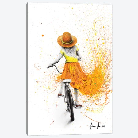 Her First Bicycle Canvas Print #VIN538} by Ashvin Harrison Art Print