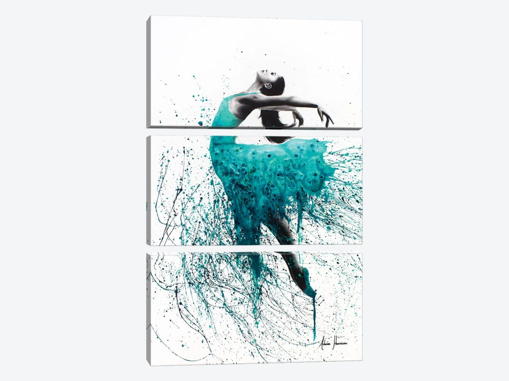 Kingfisher Woman by Ashvin Harrison 3-piece Canvas Print