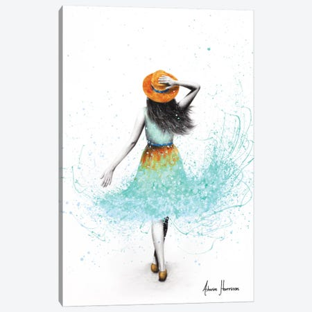 Vintage Summer Girl Canvas Print #VIN546} by Ashvin Harrison Canvas Print