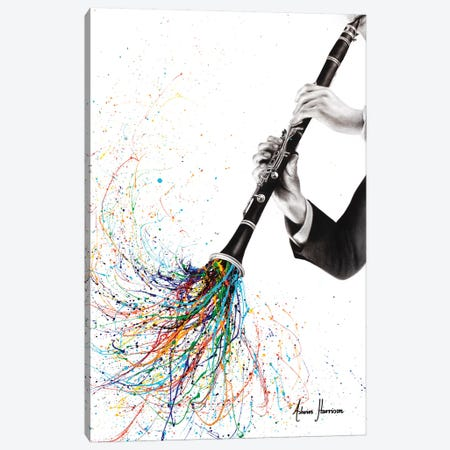 A Clarinet Tune Canvas Print #VIN553} by Ashvin Harrison Canvas Art Print
