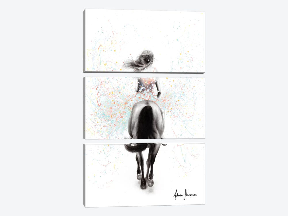 Finding Her Way by Ashvin Harrison 3-piece Canvas Art Print