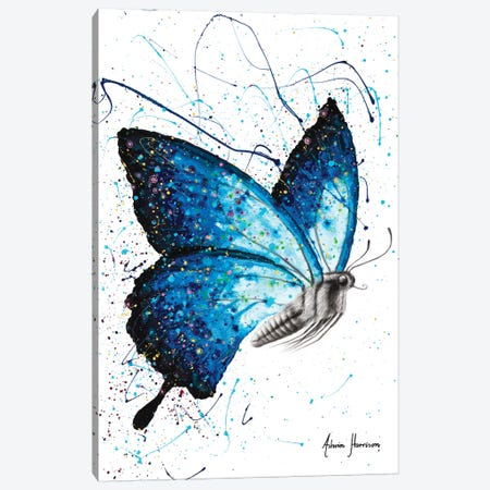 Blue Freedom Butterfly Canvas Print #VIN566} by Ashvin Harrison Art Print
