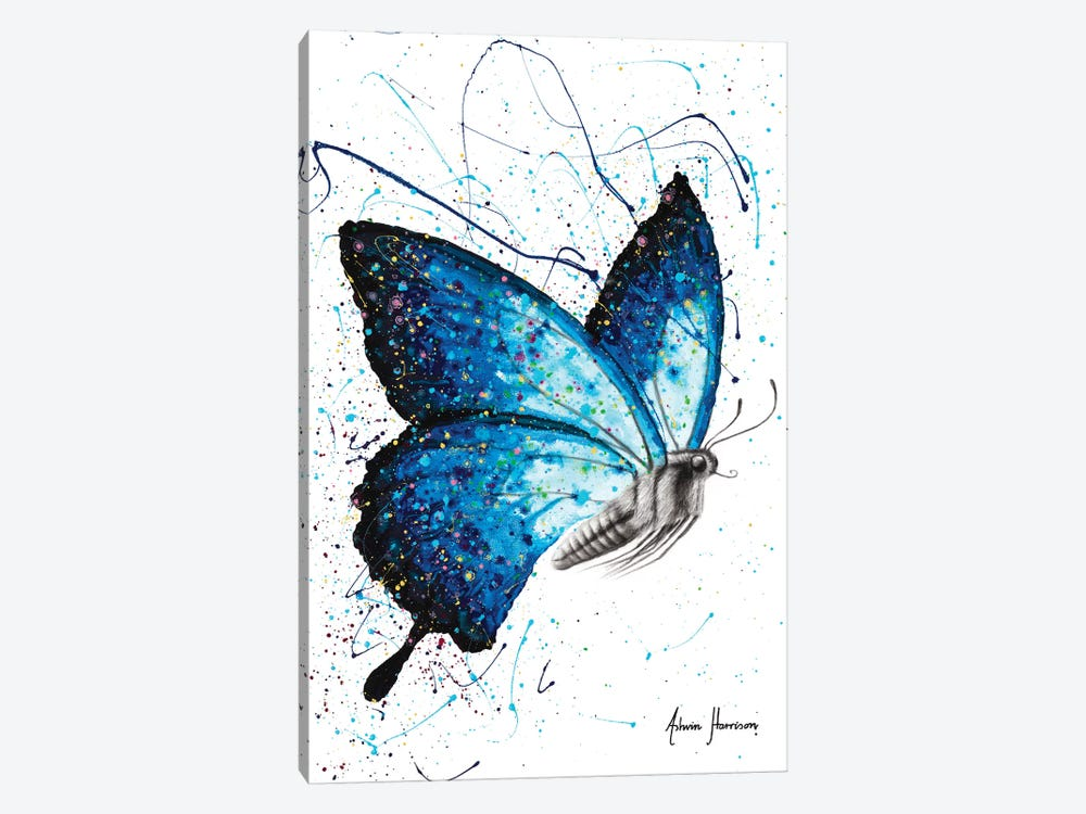 Blue Freedom Butterfly by Ashvin Harrison 1-piece Canvas Wall Art