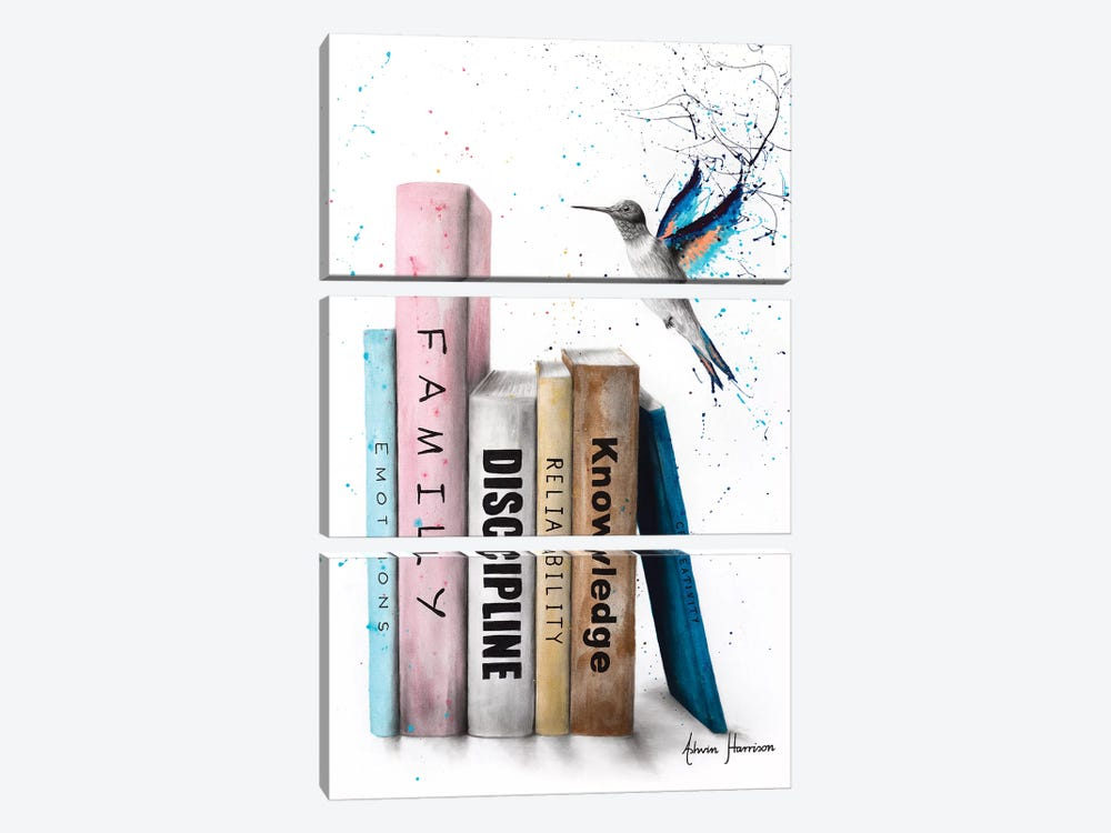 The Six Books Of Love by Ashvin Harrison 3-piece Canvas Print
