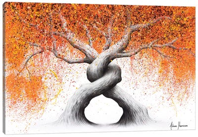 Twisting Love Trees Canvas Art Print