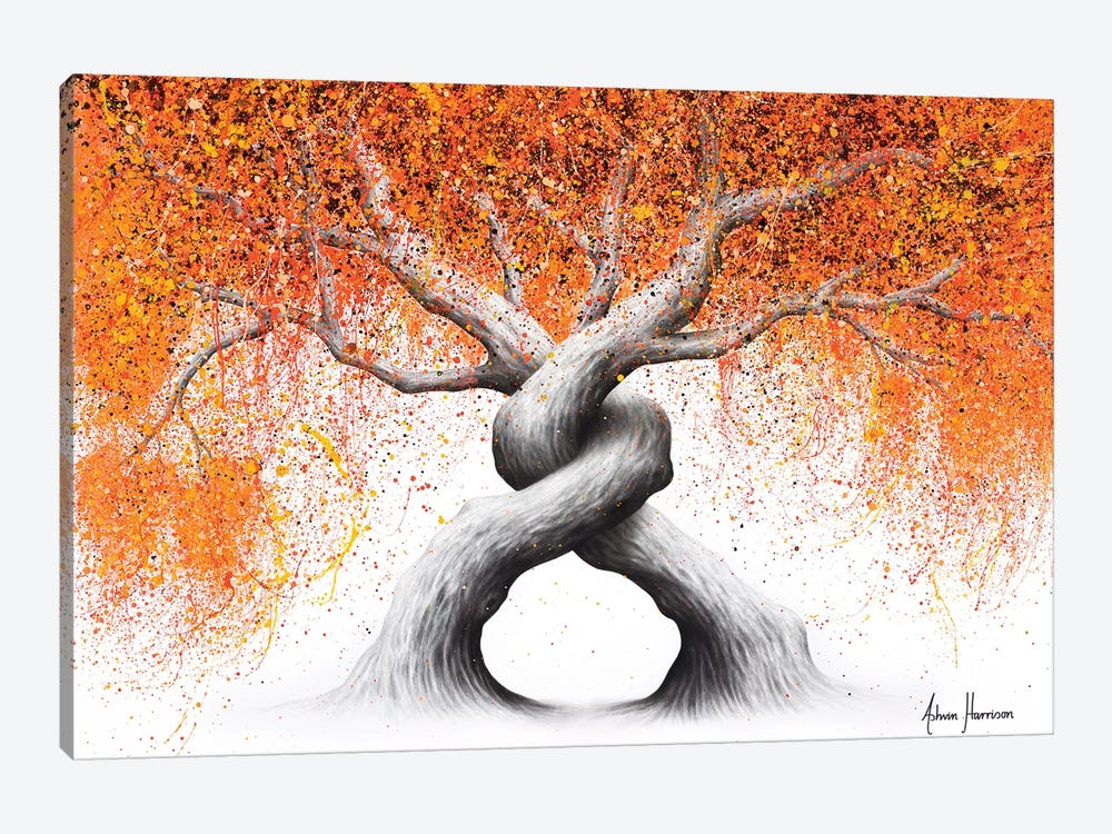 Twisting Love Trees by Ashvin Harrison 1-piece Canvas Print