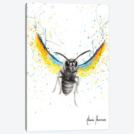 Brave Busy Bee Canvas Print #VIN577} by Ashvin Harrison Canvas Wall Art